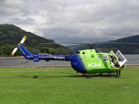 G-CDBS - Bo-105 of SCAA waiting in Inveraray Scotland - by Jack Poelstra