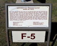 68-8123 @ KSKF - Information plate for an F-5B - by Ronald Barker