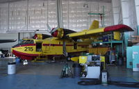 C-GNCS @ YZF - Tanker 215 in the Buffalo shop at Yellowknife, NWT. - by Murray Lundberg