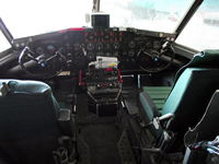 C-GNCS @ CYZF - The cockpit of Tanker 215. - by Murray Lundberg