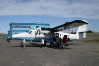 C-GDHC @ CYUB - Loading passengers at Tuk. - by Murray Lundberg