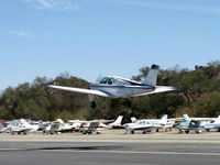 N8557M @ SZP - 1963 Beech 35-B33 DEBONAIR, Continental IO-470-K 225 Hp, takeoff climb Rwy 04 - by Doug Robertson