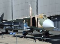 26 - Mikoyan i Gurevich MiG-23ML FLOGGER (ex LSK/LV 558, ex Luftwaffe 20 + 30, here displayed as a VVS aircraft) at the Musee de l'Air, Paris/Le Bourget - by Ingo Warnecke