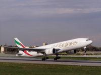 A6-EMF @ LMML - B777 A6-EMF Emirates Airlines - by Raymond Zammit