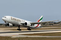 A6-EMH @ LMML - B777 A6-EMH Emirates Airlines - by Raymond Zammit