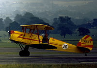 G-ASHS @ EGCD - Stampe SV-4C seen in action at the 1973 Woodford Airshow. - by Peter Nicholson