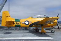 N4614 - North American T-28B Trojan at the USS Hornet Museum, Alameda CA - by Ingo Warnecke