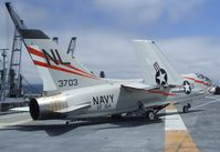 143703 - Vought F-8A Crusader at the USS Hornet Museum, Alameda CA