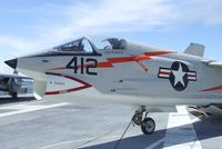 143703 - Vought F-8A Crusader at the USS Hornet Museum, Alameda CA - by Ingo Warnecke