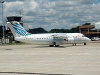 A2-ABG @ FBMN - BAe-146 at Maun - by Paul H