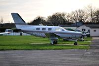N9220G @ EGTF - Piper PA-46-350P Malibu Mirage at Fairoaks. - by moxy