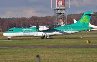 EI-FAX @ EGHH - St Finnian arriving on first visit - by John Coates