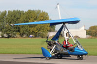G-CCMS @ EGBR - Mainair Pegasus Quik at The Real Aeroplane Club's Pre-Hibernation Fly-In, Breighton Airfield, October 2013. - by Malcolm Clarke