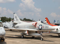 137813 @ NPA - 137813 Skyhawk in the Pensacola 'back lot' - by Pete Hughes