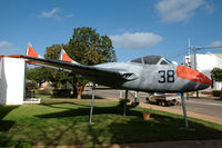 A79-638 @ N.A. - Vampire T35 in front of the Beverley Aeronautical Museum in the town of Beverley, Western Australia. - by Henk van Capelle