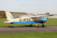 G-ATDO @ EGBR - Bolkow BO-208C Junior at The Real Aeroplane Club's Pre-Hibernation Fly-In, Breighton Airfield, October 2013. - by Malcolm Clarke