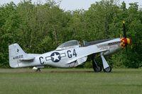F-AZSB @ LFFQ - North American P-51D Mustang, La Ferté-Alais Airfield (LFFQ) Air Show 2012 - by Yves-Q