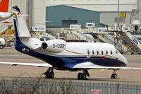 D-CGEP @ EGGW - German registered Gulfstream Aerospace G150, c/n: 287 at Luton - by Terry Fletcher