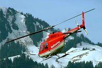 HB-XLA @ LSGT - Agusta-Bell 206B-3 Jet Ranger III [8616] (Heliswiss AG) Gruyeres~HB 11/04/2009