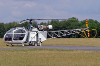 F-GEJC @ LFFQ - Aerospatiale SE.313B Alouette II [1004] La Ferte Alais~F 06/07/2006