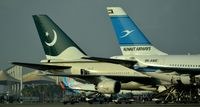 9K-AME @ OEJN - Kuwait airways , Pakistani Airways , Fly Dubai Side by Side at Jeddah - by Odai Ayyad