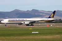 9V-SYG @ NZCH - rolling on 02 as SQ298 to SIN - by Bill Mallinson
