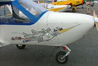 F-PMIT @ LFLV - Jabiru J400 [202] Vichy~F 08/07/2006. Showing nose art.