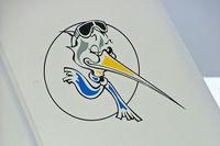 F-PMIT @ LFLV - Jabiru J400 [202] Vichy~F 08/07/2006. Showing tail art.