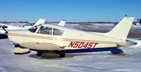 N5045T @ KDVL - Piper PA-28-140 Cherokee on the ramp in Devils Lake,  ND. - by Kreg Anderson