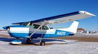 N42111 @ KDVL - Cessna 172M Skyhawk on the ramp in Devils Lake, ND. - by Kreg Anderson