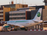 D-ASTX @ EDDW - Germania GMI A319 landed from Moscow and is now parking on the Apron. - by Bremen-Spotter