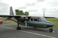 B-08 @ EBFN - Islander of the Belgian Army, Groepering Licht Vliegwezen (Light Aviation group), at Koksijde Air Base, Belgium. - by Henk van Capelle