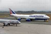 EI-XLJ @ LOWL - Transaero Boeing B747-446 on apron in LOWL/LNZ