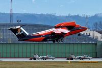 UR-CKC @ LOWL - Cavok Air Antonov An-74TK-100 take off in LOWL/LNZ