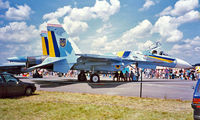 48 @ EGVA - Sukhoi Su-27A Flanker [36911014411] (Ukranian Air Force) RAF Fairford~G 19/07/1997 - by Ray Barber