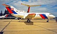 OM-BYL @ LZIB - Yakovlev Yak-40 [9440560] (Government of Slovakia) Bratislava-M R Stefanik~OM 21/06/1996