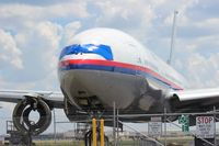 9M-MRK @ SFB - Malaysia Airlines 777-200 getting scrapped - by Florida Metal
