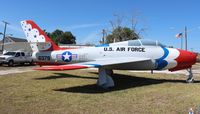 52-6379 - F-84F Thunderstreak in Wauchula Florida - by Florida Metal