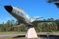 57-0417 - F-101B Voodoo on a pedestal at Calloway ballpark near Panama City FL