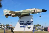 63-7487 - F-4C Phantom at Battleship Alabama Memorial - by Florida Metal