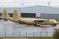 1622 @ EGNX - Royal Saudi Air Force Hercules , 1622 and 1624 on the ramp at East Midlands Airport - by Terry Fletcher