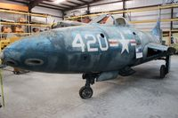 N32313 @ FA08 - Grumman F9F-2 Panther section in Golden Hill Restoration hangars