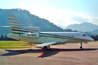 VP-BLM @ LSZA - Dassault Falcon 900 [72] Lugano~HB 21/07/2004
