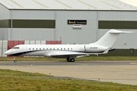 M-MDBD @ EGGW - Based 2000 Bombardier BD-700-1A10, c/n: 9049 at Luton - by Terry Fletcher