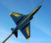 148490 - Blue Angels A-4L in front of rest area on I-10 in Northwest Florida