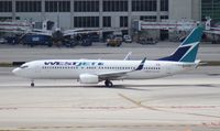 C-FKWJ @ MIA - West Jet 737-800 - by Florida Metal