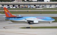 C-FLZR @ FLL - Sun Wing hybrid with Thompson colors 737-800 - by Florida Metal