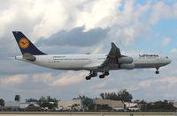 D-AIGO @ MIA - Lufthansa A340-300 - by Florida Metal