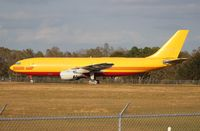 EI-EAB @ LAL - DHL A300 sitting parked at Lakeland without titles or marked registration