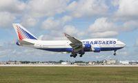 EI-XLM @ MIA - Transaero 747-412